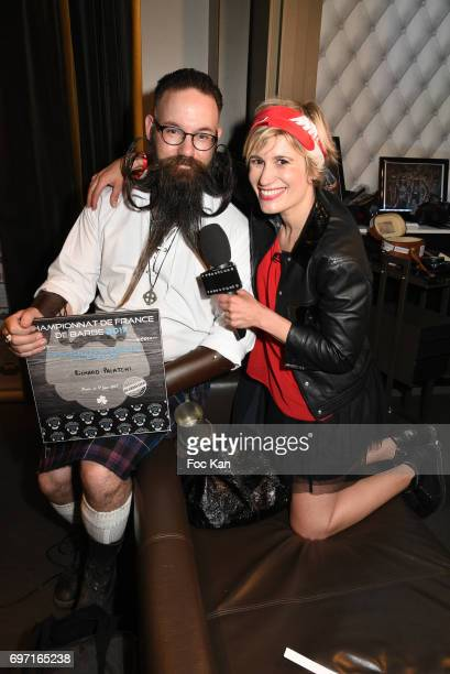 Audacious beard winner Richard Palatchi and TV presenter Stephanie Valton from TF1 attend ÊFrance Beard Championship 2017 Hosted by Beardilizer at...
