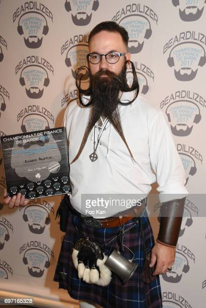 Audacious beard winner Richard Palatchi attends ÊFrance Beard Championship 2017 Hosted by Beardilizer at Cite de la Roquette on June17 2017 in Paris...