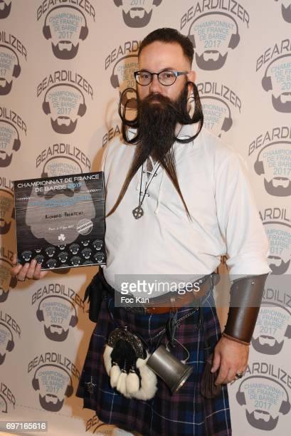 Audacious beard winner Richard Palatchi attends ÊFrance Beard Championship 2017 Hosted by Beardilizer at Cite de la Roquette on June17 2017 in Paris...
