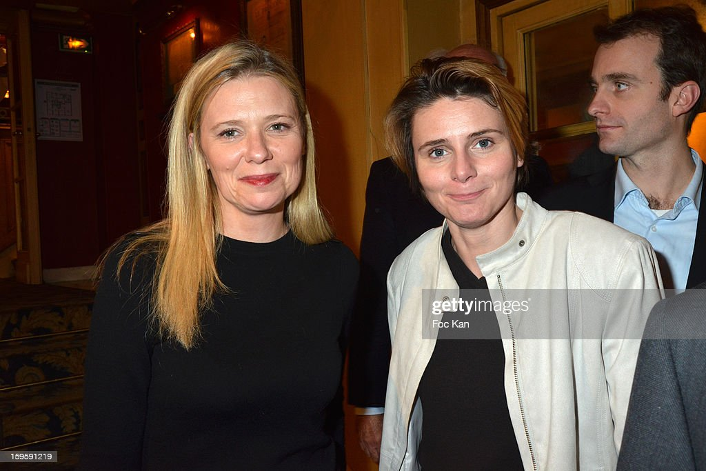 Aude Lancelin and Caroline Fourest attend the 'Procope Des Lumieres 2013 ' Literary Awards Ceremony at Le Procope on January 16, 2013 in Paris, France.