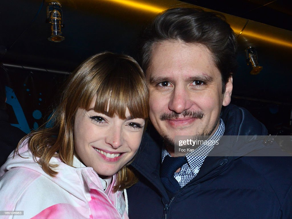 Aude Pepin and Matthias Van Khache attend 'Les Toiles Enchantees' Children Care Association Auction Dinner During The 50th Foire du Trone at Pelouse de Reuilly on March 29, 2013 in Paris, France.