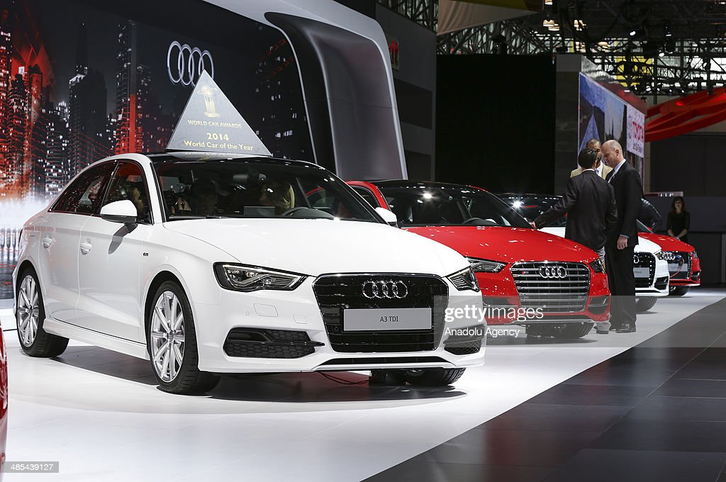 Audi A3 Declared 2014 World Car of the Year during the 2014 New York International Auto Show at the Jacob Javits Center New York, United States on April 17, 2014.