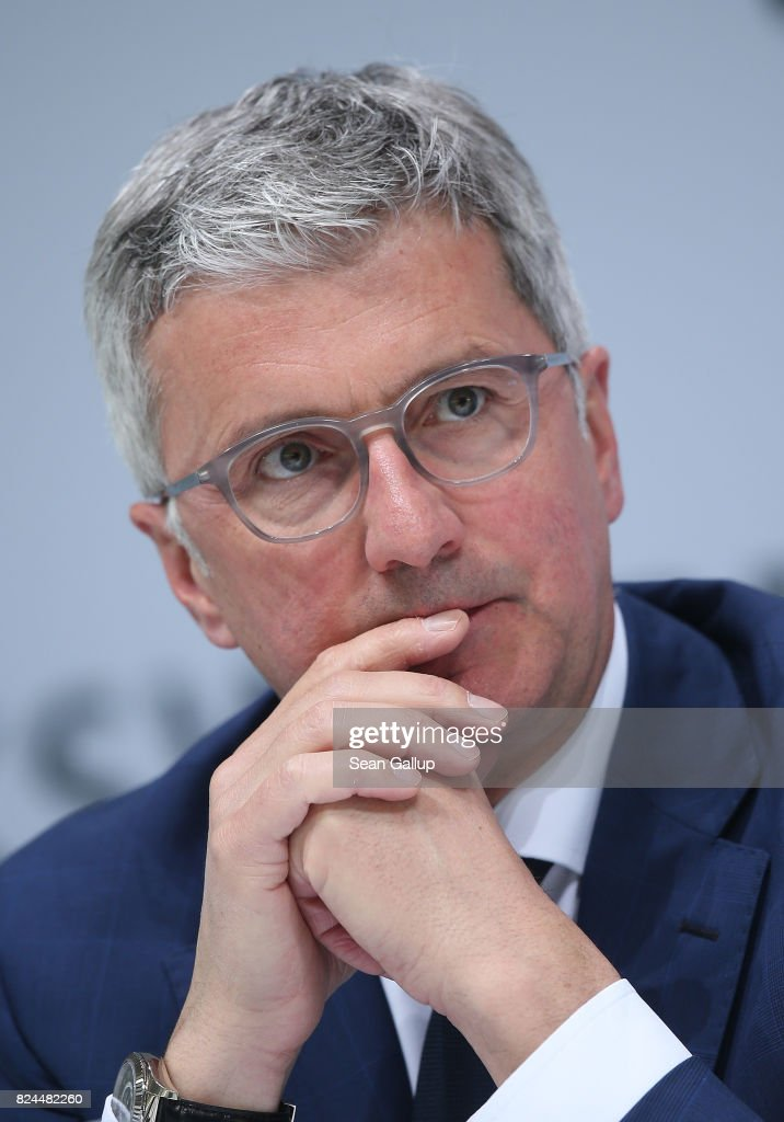 Audi AG CEO Rupert Stadler attends the Volkswagen AG annual press conference on March 14, 2017 in Wolfsburg, Germany. According to media reports on July 30, 2017, Stadler is under increasing pressure following allegations that Audi is among German automakers involved in an illegal cartel to influence parts suppliers prices, suppress environmentally-friendly technology and stifle competition. The Audi managing board is allegedly already looking for a successor.