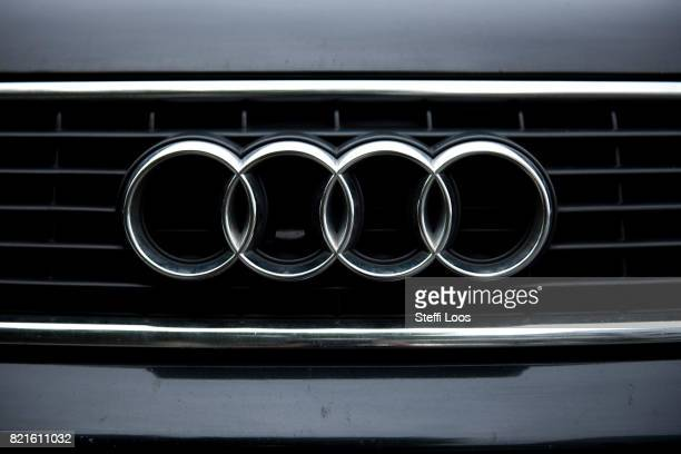 Audi car parks on July 24 2017 in Berlin Germany Germany's biggest car companies VW Audi Porsche BMW and Daimler are being investigated on suspicion...