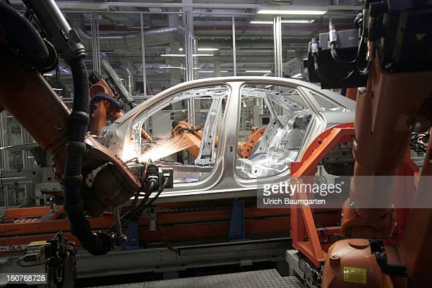 GERMANY INGOLSTADT Audi car production at the Audi production location in Ingolstadt Our picture shows robots at work
