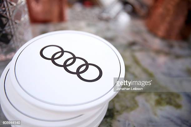Audi coasters are seen during the Audi Celebrates The 68th Emmys at Catch LA on September 15 2016 in West Hollywood California