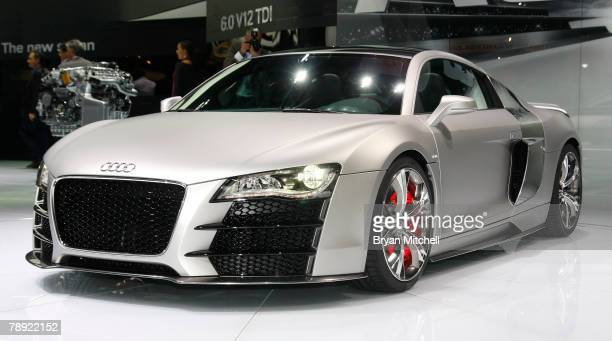 Audi held the world premiere of the Audi R8 V12 TDI diesel engine concept car to the world automotive media during the press preview days at the...