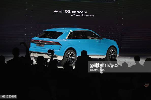 Audi introduces the fullsize SUV Q8 concept car at the North American International Auto Show on January 9 2017 in Detroit Michigan The show is open...