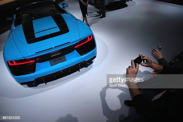 Audi of America displays the R8 V10 at the North American International Auto Show on January 9 2017 in Detroit Michigan The show is open to the...