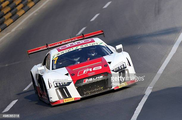 Audi R8 LMS driver Rene Rast of Germany in action during the QualifyingProvisional Classification of the SJM Macau GT CupFIA GT World Cup event as...