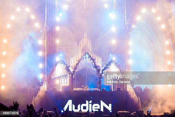 Audien performs during EDC Electric Daisy Carnival at Autodromo de Interlagos on December 04 2015 in Sao Paulo Brazil