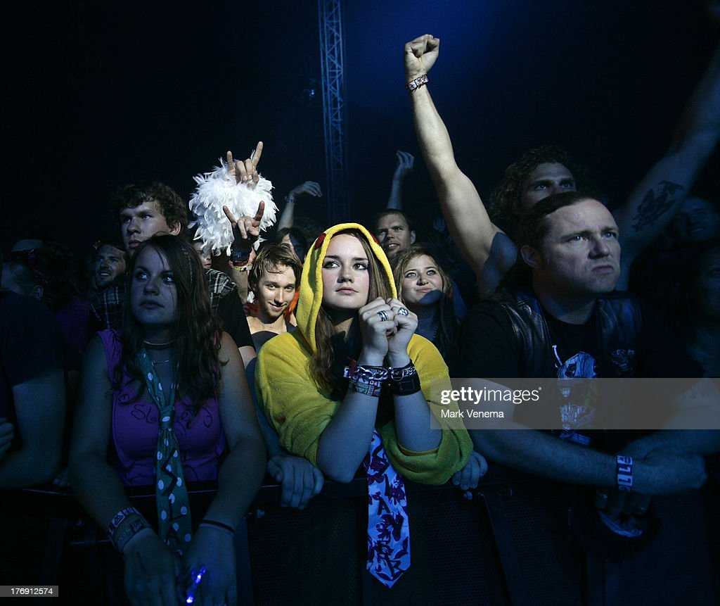 Audience at day 3 of the Lowlands Festival on August 18, 2013 in Biddinghuizen, Netherlands.