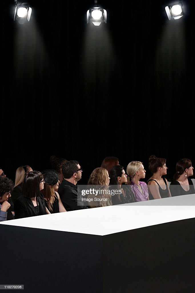 Fashion Show Runway Audience Audience At Fashion Sh...