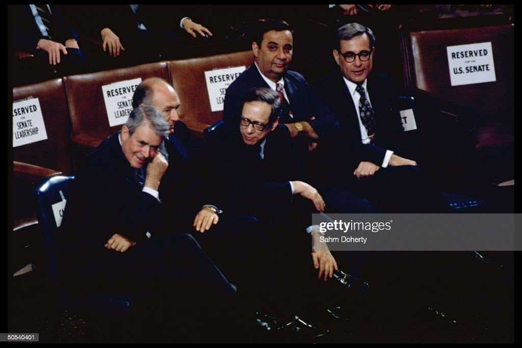 Audience at President Jimmy Carter's Energy speech to joint session of Congress including (R-L) Harold Brown; Bert Lance; Michael Blumenthal; Cecil Andrus & Cyrus Vance; Washington D.C.