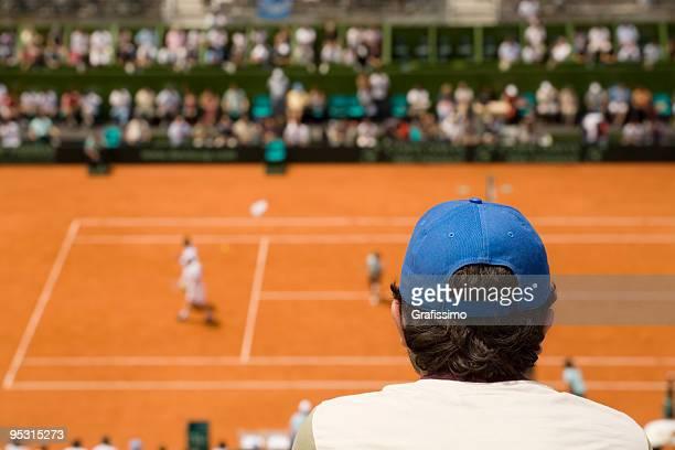 Pubblico a partita di tennis