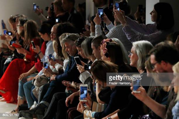 Audience at the Maisonnoee show during the MercedesBenz Fashion Week Berlin Spring/Summer 2018 at Kaufhaus Jandorf on July 5 2017 in Berlin Germany