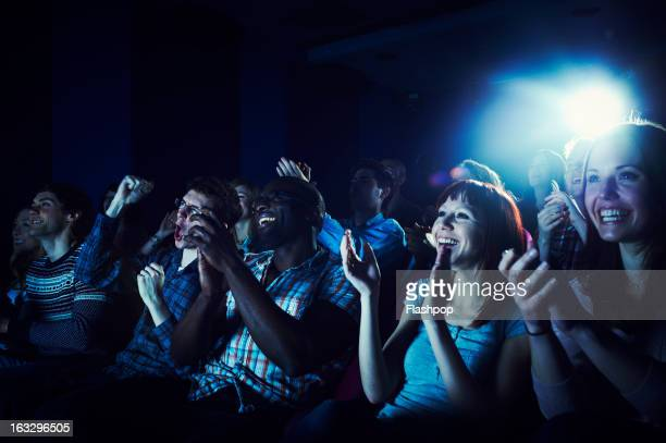 Audience clapping
