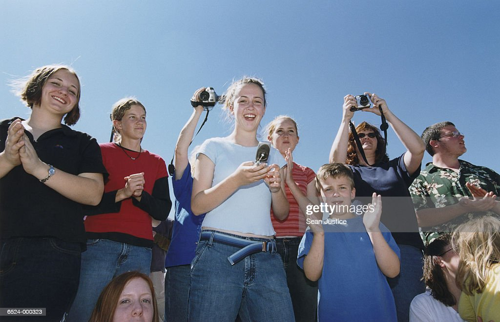 Audience Clapping : Stock Photo