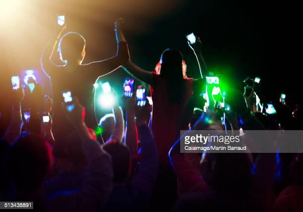 Audience enjoying concert