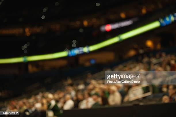 Audience in stadium, defocused
