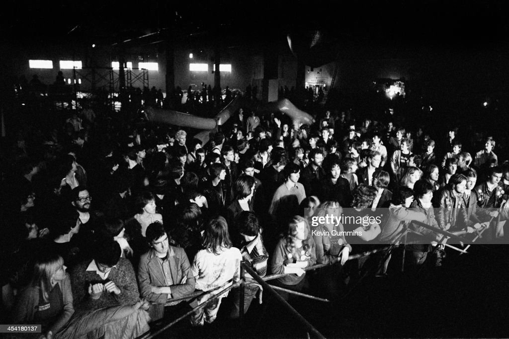 Audience members at a concert by Echo the Bunnymen Leeds 9th September 1979