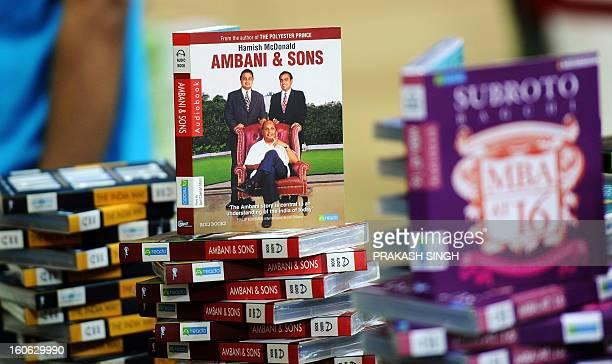Audio books are displayed at the Delhi World Book fair at Pragati Maidan in New Delhi on February 4 2013 The New Delhi World Book Fair held for the...