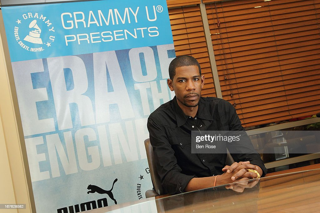 Audio engineer Young Guru poses backstage during GRAMMY U Presents: Era of the Engineer at Emory University Center for Ethics on April 26, 2013 in Atlanta, Georgia.