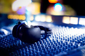 Audio mixing Console and Headphones