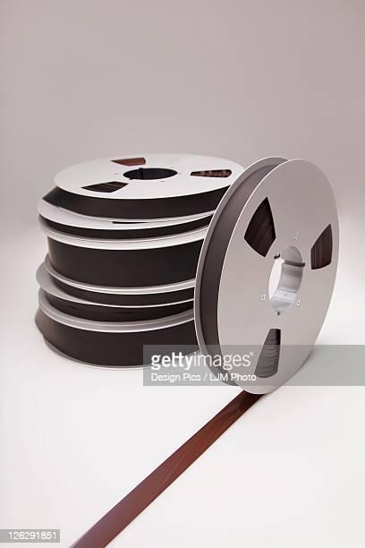 audio recording tape on reels