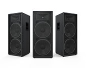 Audio Speakers isolated on white background. 3D render