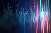 colorful Audio waveform abstract technology background ,represent digital equalizer technology