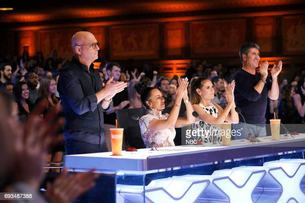 S GOT TALENT Auditions Episode 1202 Pictured Howie Mandel Mel B Heidi Klum Simon Cowell