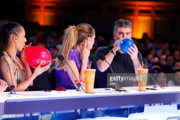 S GOT TALENT Auditions Episode 1202 Pictured Mel B Heidi Klum Simon Cowell