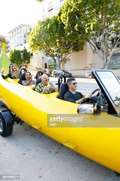 S GOT TALENT Auditions Pasadena Civic Auditorium Pictured Heidi Klum Mel B Howie Mandel Simon Cowell