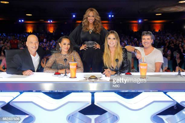 S GOT TALENT 'Auditions Pasadena Civic Auditorium' Pictured Howie Mandel Mel B Tyra Banks Heidi Klum Simon Cowell
