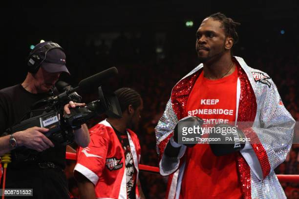 Audley Harrison in the spotlight prior to his WBA World Heavyweight Championship fight with David Haye