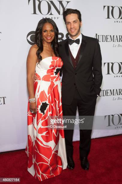 Audra McDonald and Will Swenson attend the American Theatre Wing's 68th Annual Tony Awards at Radio City Music Hall on June 8 2014 in New York City