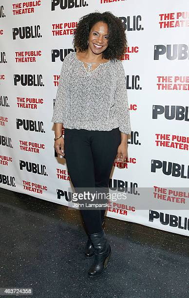 Audra McDonald attends 'Hamilton' Opening Night at The Public Theater on February 17 2015 in New York City