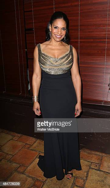 Audra McDonald attends the Broadway Opening Night After Party for 'Lady Day at Emerson's Bar Grill' at The Redeye Grill on April 13 2014 in New York...