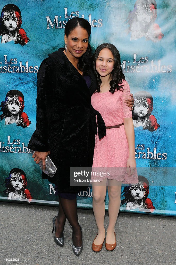 Audra McDonald attends the opening night of Cameron Mackintosh's new production of Boublil and Schonberg's 'Les Miserables' on Broadway at The Imperial Theatre on March 23, 2014 in New York City.