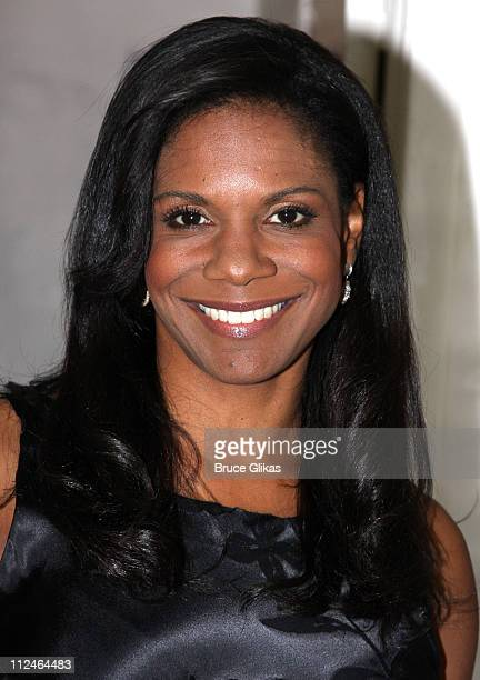 Audra McDonald poses backstage at 'Broadway Voices For Change' at the Al Hirschfeld Theatre on October 19 2008 in New York City