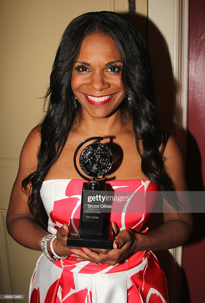 <a gi-track='captionPersonalityLinkClicked' href=/galleries/search?phrase=Audra+McDonald&family=editorial&specificpeople=212782 ng-click='$event.stopPropagation()'>Audra McDonald</a> poses in the press room during the American Theatre Wing's 68th Annual Tony Awards at Radio City Music Hall on June 8, 2014 in New York City.