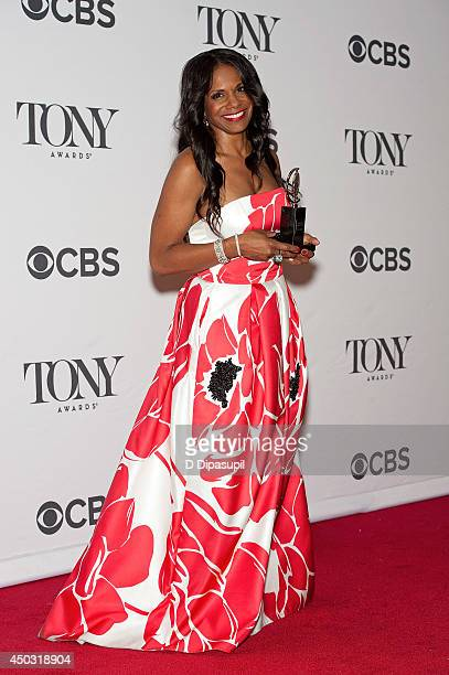 Audra McDonald poses in the press room during the American Theatre Wing's 68th Annual Tony Awards at Radio City Music Hall on June 8 2014 in New York...