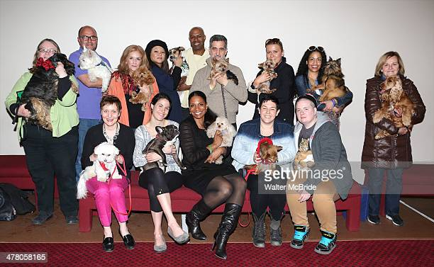 Audra McDonald with candidates attend the 'Lady Day' dog auditions at Emerson's Bar And Grill on March 11 2014 in New York City