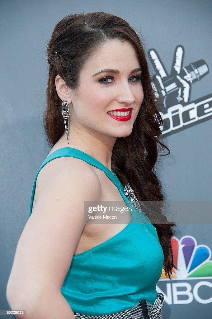 <a gi-track='captionPersonalityLinkClicked' href=/galleries/search?phrase=Audra+McLaughlin&family=editorial&specificpeople=12523413 ng-click='$event.stopPropagation()'>Audra McLaughlin</a> arrives at NBC's 'The Voice' Season 6 Top 12 Red Carpet Event at Universal CityWalk on April 15, 2014 in Universal City, California.