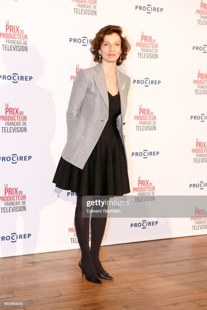 Audrey Azoulay attends the 23rd Prix Du Producteur Francais De Television, at the Trianon, on March 13, 2017 in Paris, France.