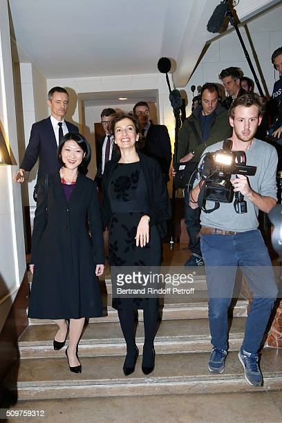Audrey Azoulay Newly Appointed French Minister of Culture and Communication instead of Fleur Pellerin at Minister of Culture on February 12 2016 in...