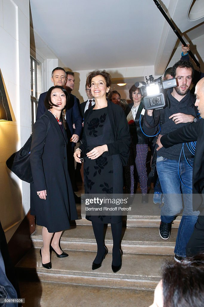 Audrey Azoulay (R) Newly Appointed French Minister of Culture and Communication instead of Fleur Pellerin (L) at Minister of Culture on February 12, 2016 in Paris, France.