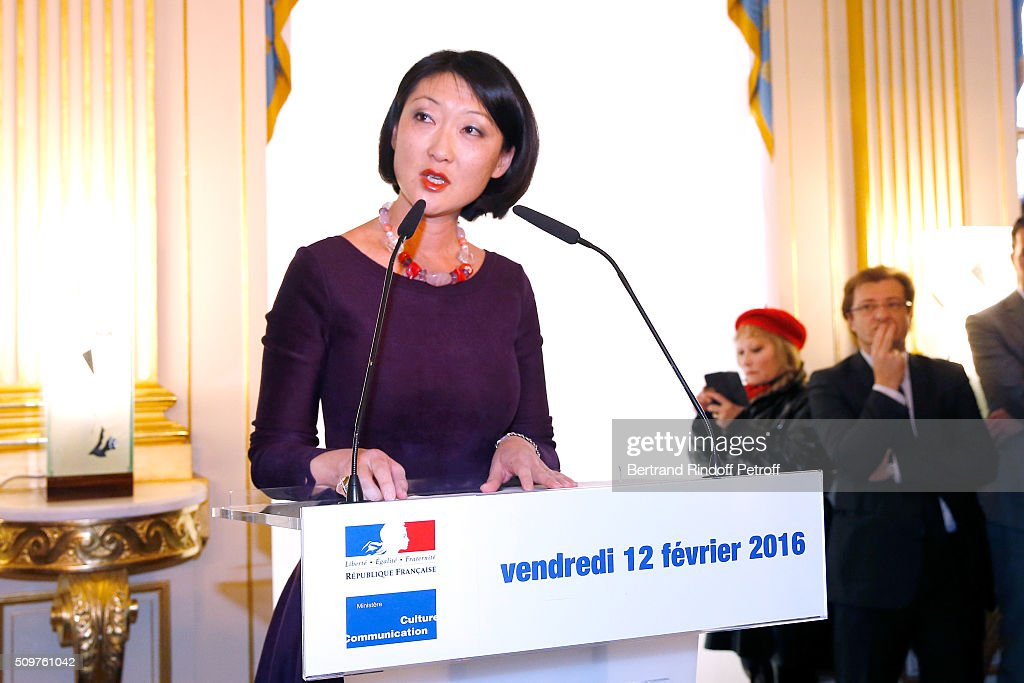 Audrey Azoulay (Not in Picture) Newly Appointed French Minister of Culture and Communication instead of <a gi-track='captionPersonalityLinkClicked' href=/galleries/search?phrase=Fleur+Pellerin&family=editorial&specificpeople=8784076 ng-click='$event.stopPropagation()'>Fleur Pellerin</a> (in picture) at Minister of Culture on February 12, 2016 in Paris, France.