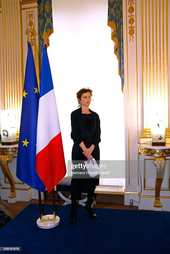 Audrey Azoulay Newly Appointed French Minister of Culture and Communication instead of Fleur Pellerin (not in picture) at Minister of Culture on February 12, 2016 in Paris, France.